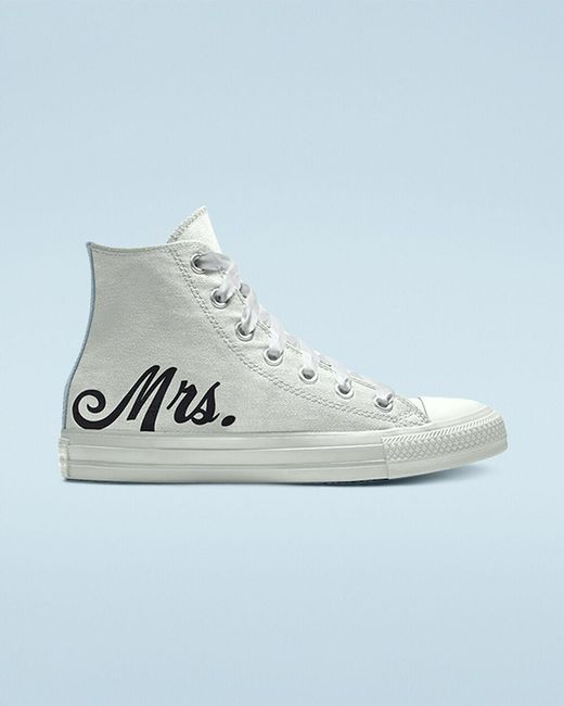 Converse White Custom Wedding Chuck Taylor All Star By You High-top sneakers