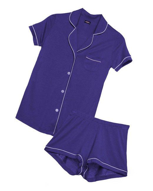 Cosabella | Purple Bella Short Sleeve & Boxer Pajama Set | Lyst