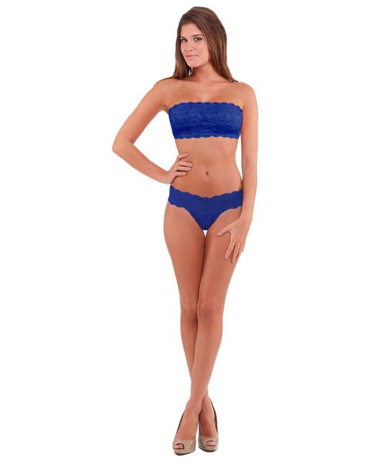 Cosabella | Blue Never Say Never Flirtie Lace Bandeau Bra #never1102 | Lyst