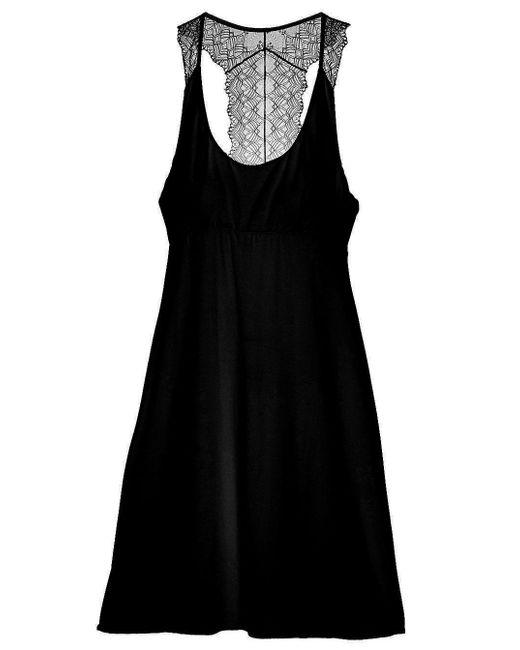 Cosabella | Black Papyrus Short Slip Dress | Lyst
