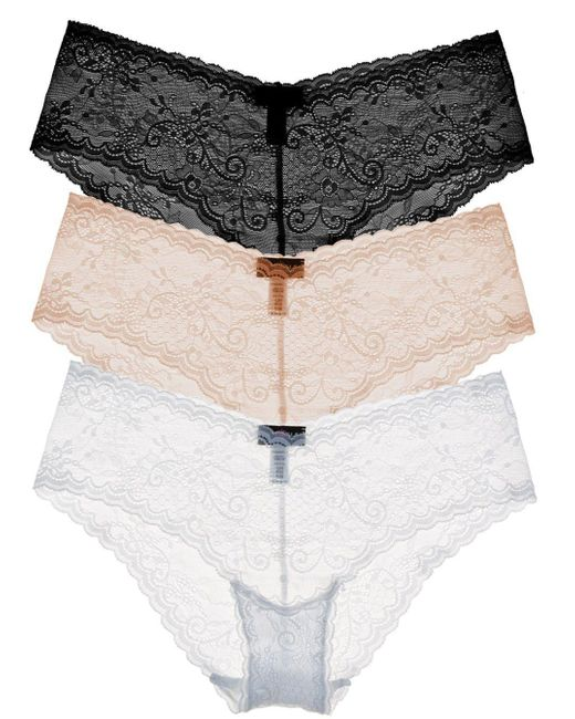 Cosabella - Natural Trentatm Lowrider Lace Hotpant Basic Pack - Lyst