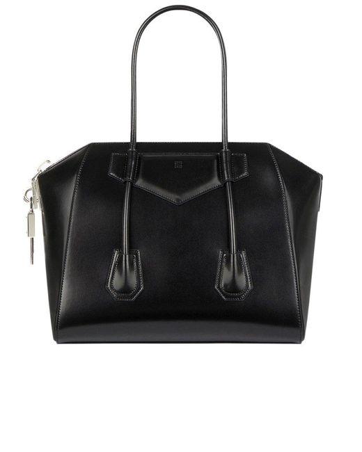 Givenchy Medium Antigona Lock In Box Leather Black