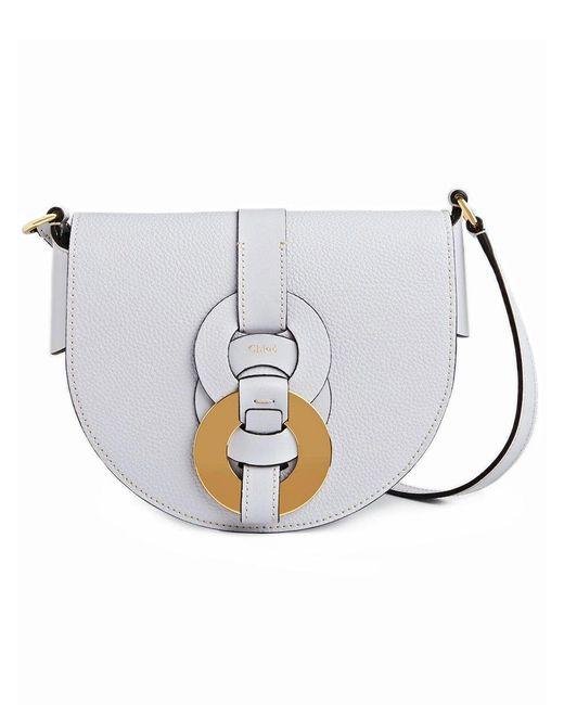 Chloé Multicolor Small Darryl Saddle Bag In Light Cloud