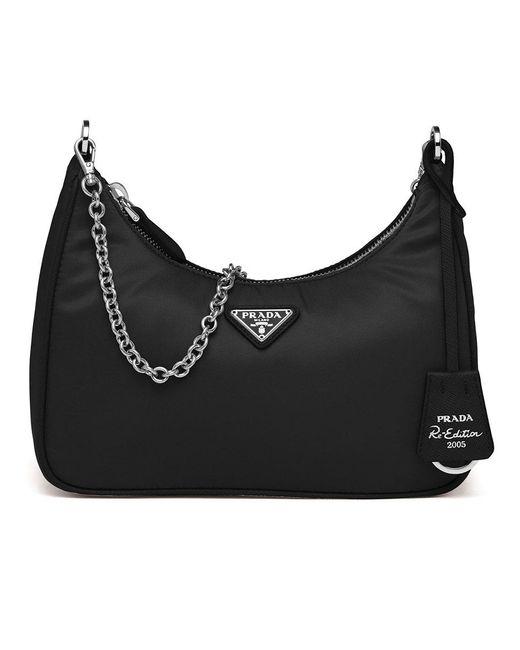 Prada Black Re-edition 2005 Nylon Bag