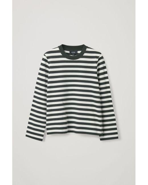 COS Green Slim-fit Long-sleeve T-shirt