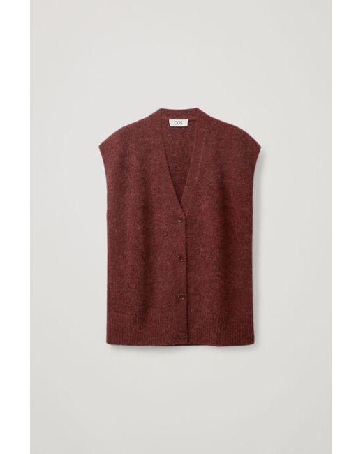 COS Orange Knitted Vest