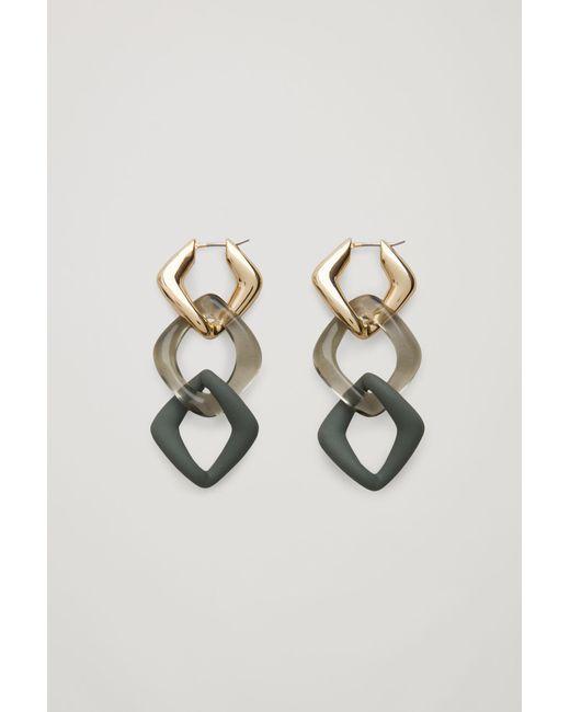 COS Metallic Link Earrings