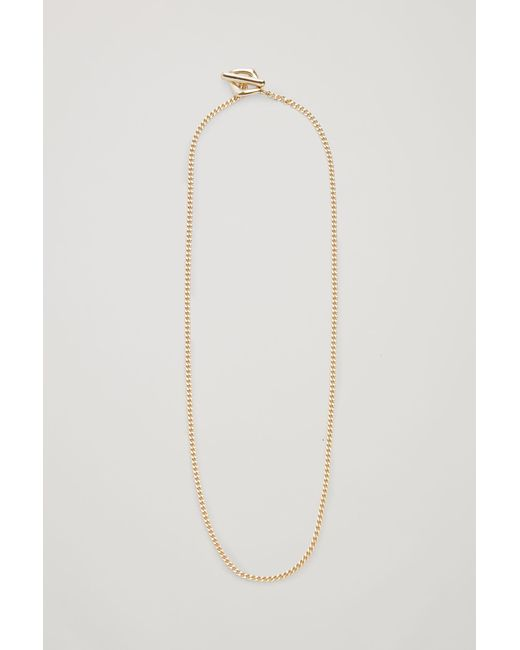 COS Metallic Chain Link Necklace