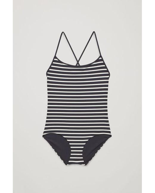 COS - Blue Crossover Swimsuit - Lyst