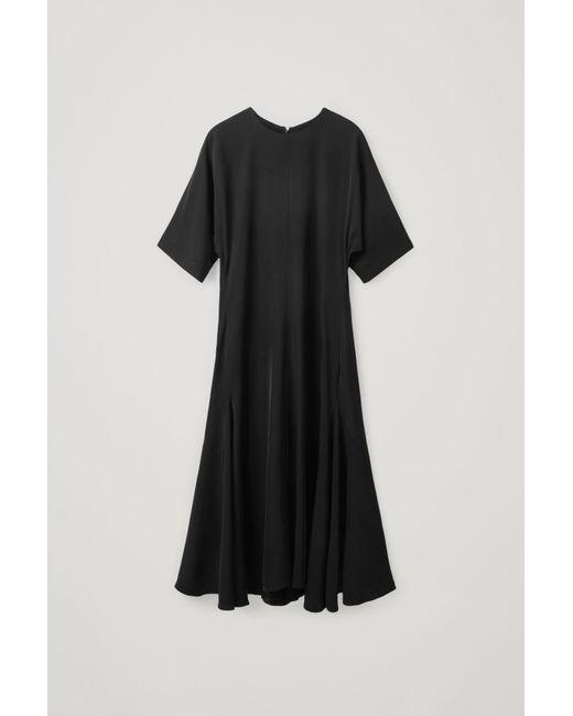 COS Black Long A-line Dress