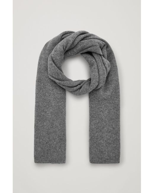 COS Gray Cashmere Scarf
