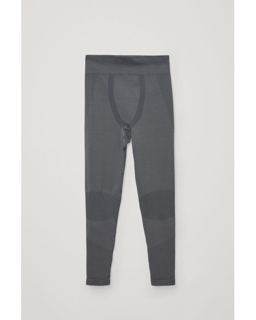 COS Gray Seamless Performance LEGGINGS for men