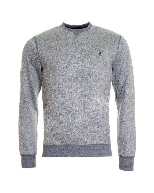 Original Penguin | Gray Tri-colour Mouline Loopback Mens Sweatshirt for Men | Lyst