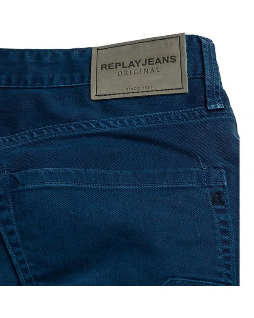 ... Replay - Blue Waitom Regular Slim Mens Jeans for Men - Lyst ... dd8bc0615298