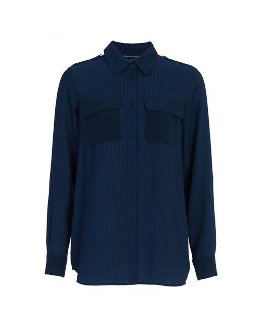 French Connection - Blue Pippa Plains Classic Ladies Shirt - Lyst