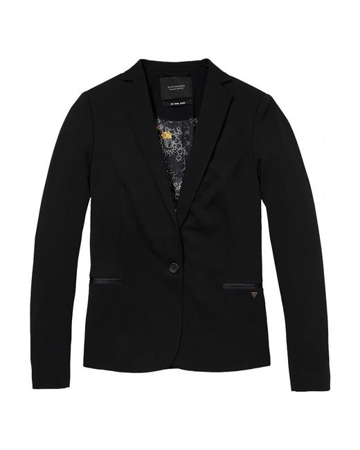 Maison Scotch - Black Classic Special Lining Womens Blazer - Lyst