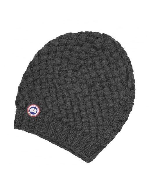 Canada Goose - Gray Basket Weave Slouchy Ladies Hat - Lyst