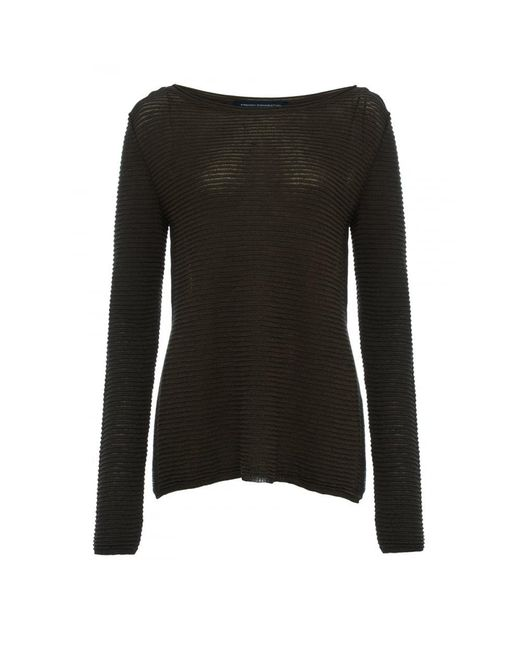 French Connection | Black Richter Knits Long Sleeve Slash-neck Womens Jumper | Lyst