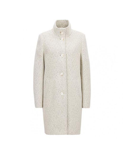 BOSS White Casual Ohsandy Womens Coat