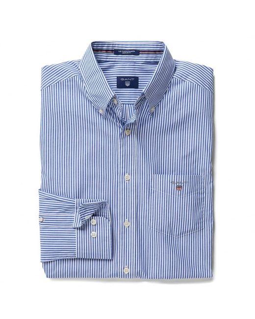 Gant | Blue The Poplin Banker Stripe Mens Shirt for Men | Lyst