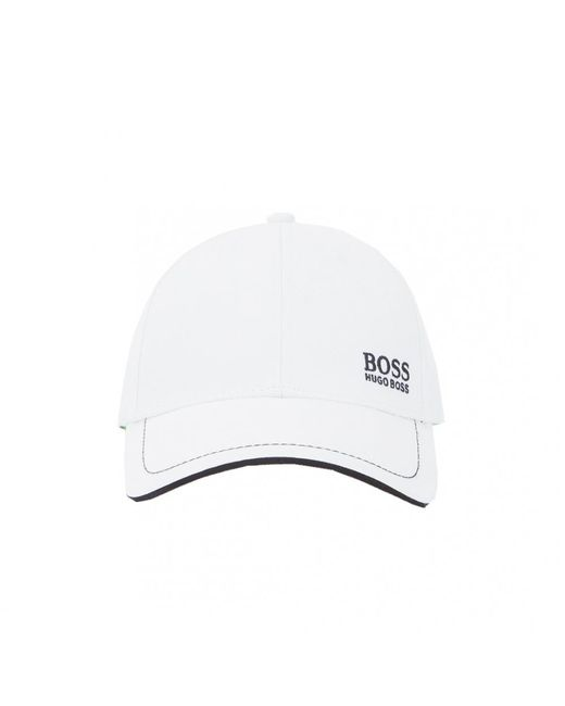96a3a7b9c77c9a BOSS Baseball Embroidered Logo Cap in White for Men - Save 11% - Lyst