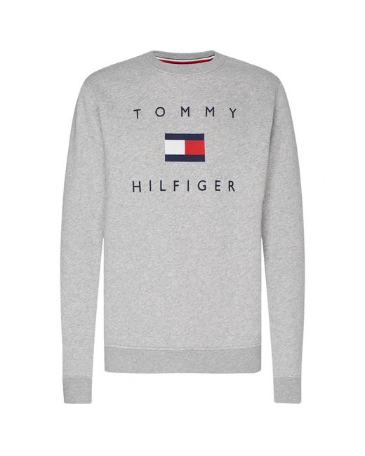 Tommy Hilfiger Gray Tommy Flag Hilfiger Heavyweight Knit for men