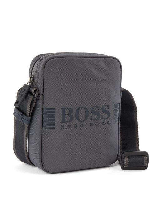 BOSS by Hugo Boss Gray Pixel Mini Bag for men