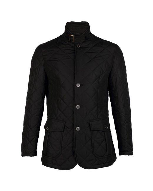 Barbour Black Quilted Lutz Mens Jacket for men