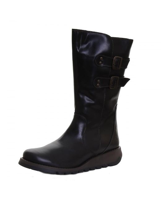 Fly London | Black Suli Ladies Boot | Lyst
