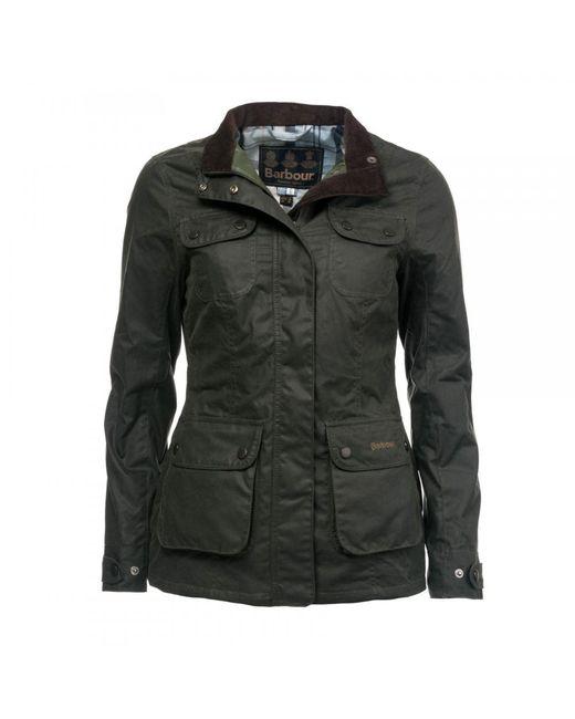 Barbour Black Wheatsheaf Wax Womens Jacket