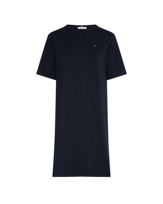 Tommy Hilfiger Blue Glb Shift Dress