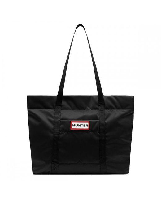 Hunter Black Original Nylon Weekender Bag