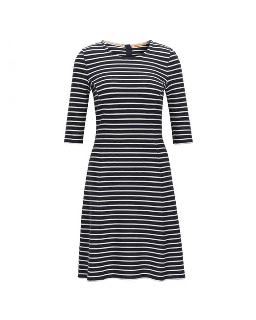 BOSS - Blue Casual Dressie Womens Dress - Lyst