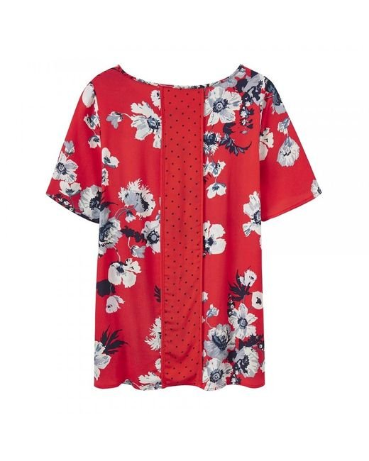 Joules Red Hannah Woven Shell Top