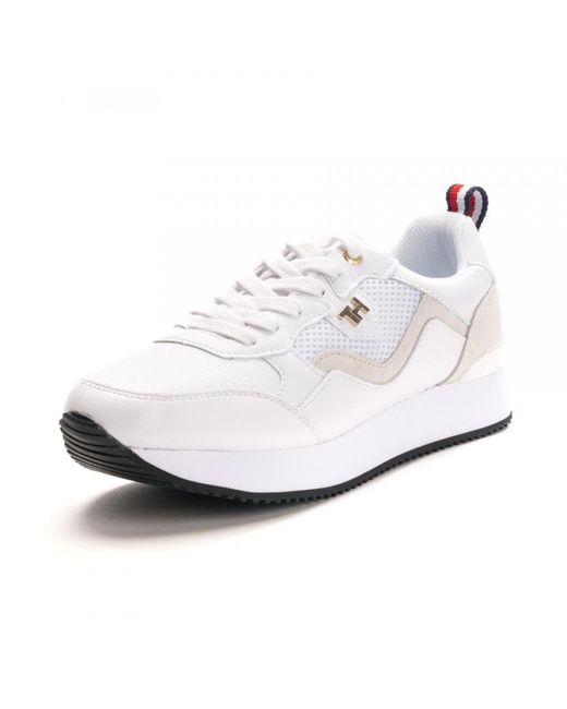 Tommy Hilfiger White Womens Tommy Dress City Sne Sneakers