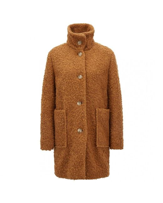 BOSS Brown Casual Ornage Ochilly Womens Coat