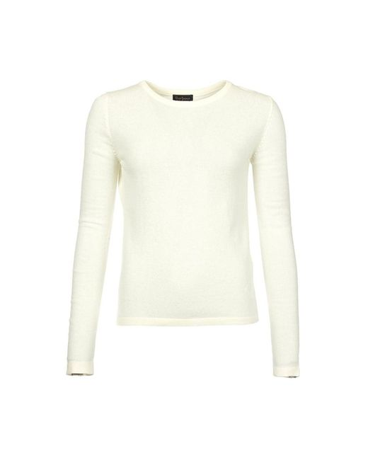 Barbour - White Clyde Crew Neck Ladies Jumper - Lyst