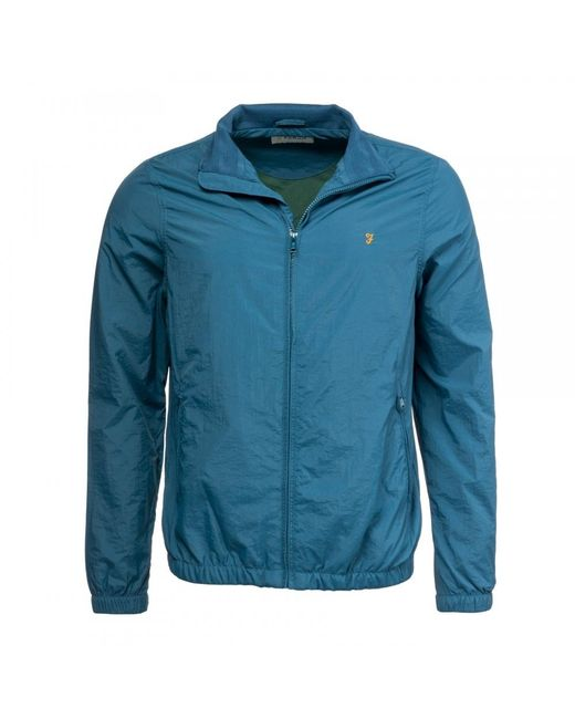 Farah Blue Dougans Blouson Mens Jacket for men