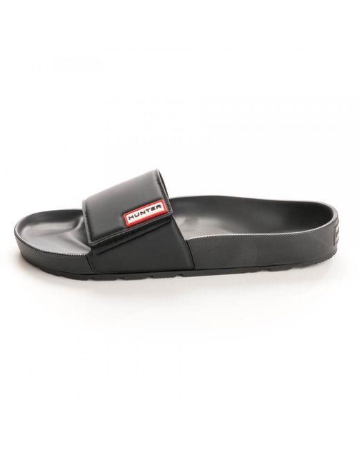 a99a887b327d HUNTER Original Adjustable Mens Sliders in Black for Men - Save 55 ...