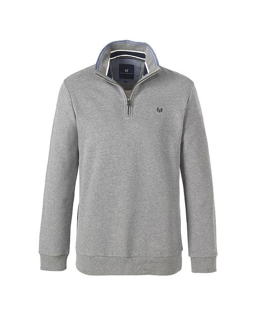 Crew | Gray Classic Half Zip Mens Sweater for Men | Lyst