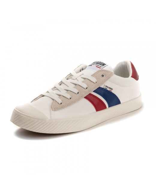 Palladium White Pallaphoenix Flame C Mens Trainers for men