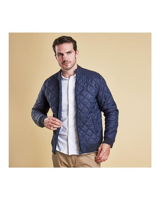 Barbour Holton Mens Quilt Jacket in Blue for Men | Lyst : barbour mens quilted jackets - Adamdwight.com