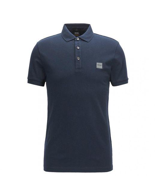 BOSS by Hugo Boss Blue Slim-fit Passenger Polo Shirt Cotton Pique for men