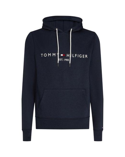 Tommy Hilfiger Blue Tommy Logo Hoodie for men