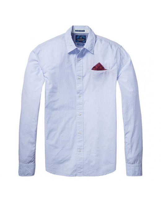Scotch & Soda - Blue Long Sleeve Mens Lightweight Shirt for Men - Lyst