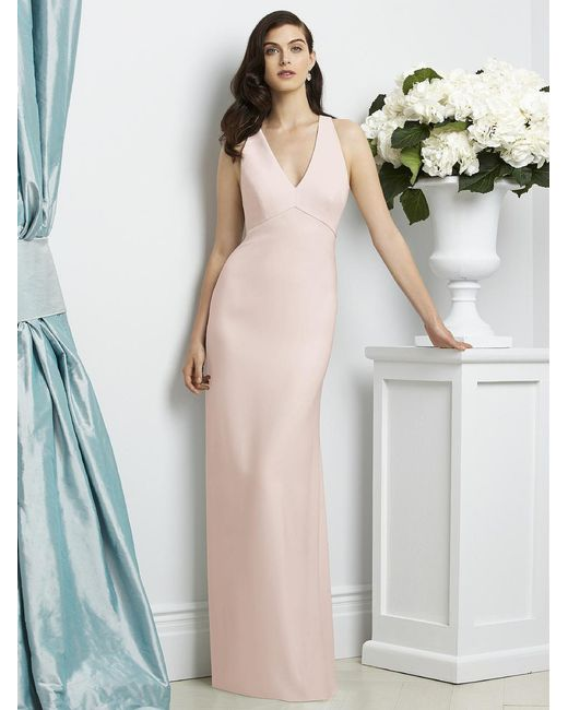 Dessy Collection   Pink Dress In Blush   Lyst