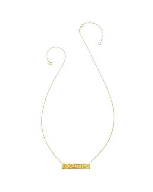 Heather Hawkins | Black Fine Diamond Bar Necklace - Customizable | Lyst