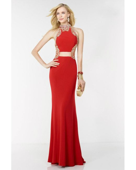 Lyst - Alyce Paris Prom Dress In Red Gold in Red