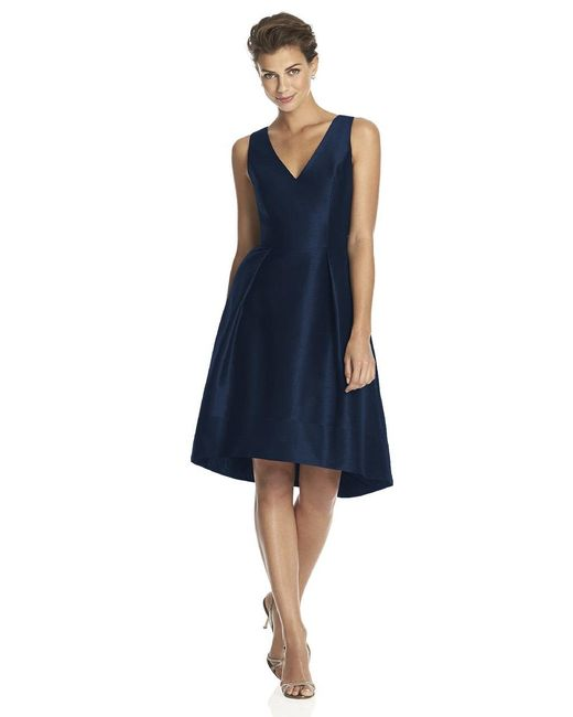 Alfred Sung   Blue D Bridesmaid Dress In Midnight   Lyst
