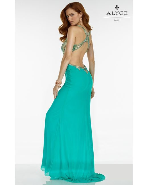 Alyce paris Prom Dress In Turquoise in Green | Lyst